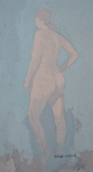 Sasha Harding Original Oil Painting Portrait Of A Nude Woman